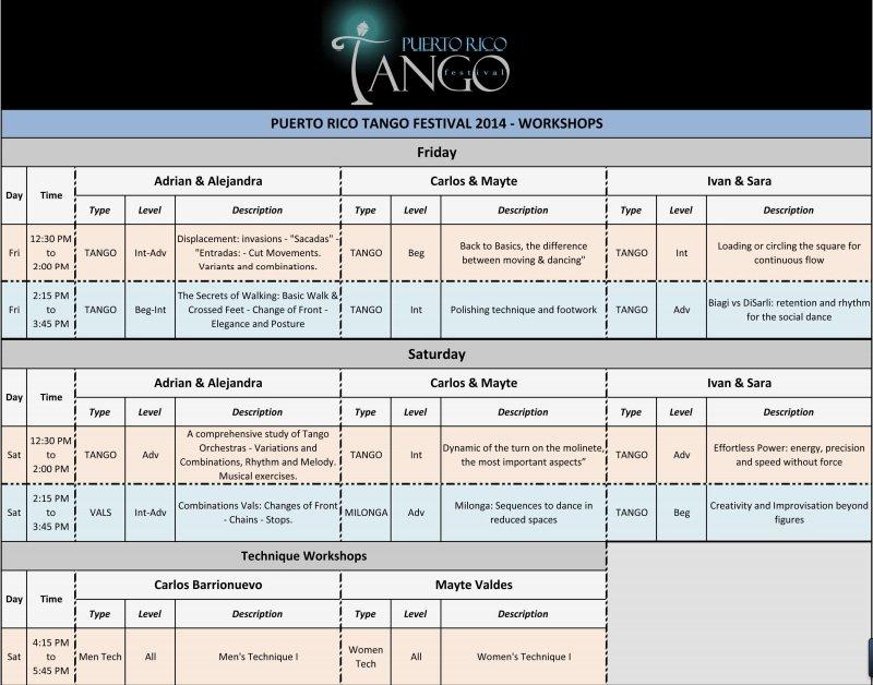 International Tango Festival Workshops (1 of 2)