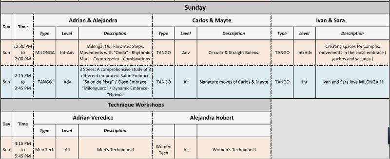 International Tango Festival Workshops (2 of 2)